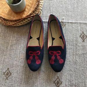 Adrienne Vittadini Navy Slip On loafers size 8.5